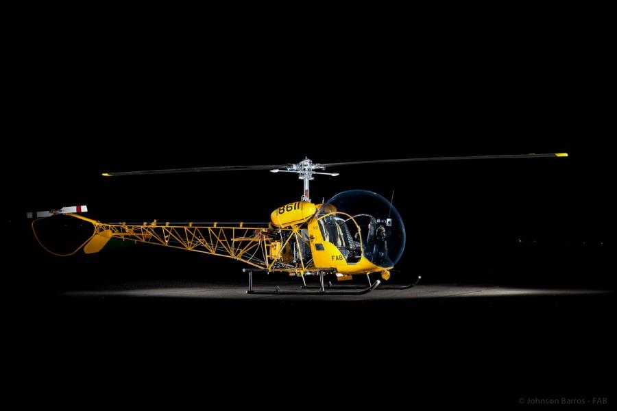 Repousando no MUSAL, este Bell 47 Sioux, serviu na Força Aérea Brasileira sob o designativo de H-13 por muitos anos.