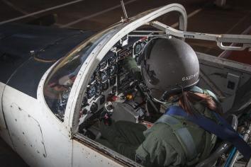 Checando os instrumentos de voo