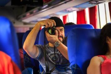 Paradinha para fotografar no ônibus