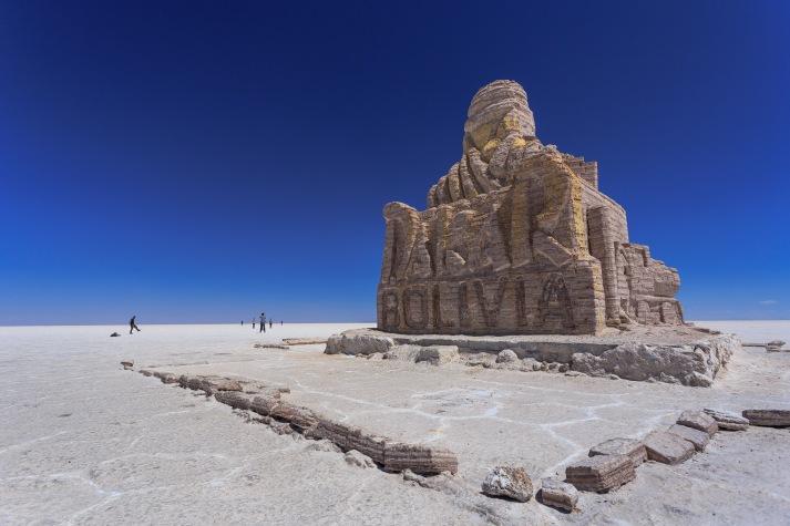 Monumento em sal homenageando o Dakar 2014.
