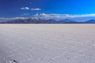 Uma das várias texturas do lago de sal.