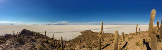 Vista do topo da ilha Incahuashi
