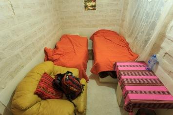 Quarto com baño privado (banheiro privativo) no hotel de sal.
