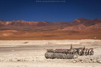 Atividade mineradora no Salar Capina
