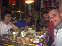 Jantar com nossos amigos chineses.