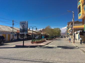 Avenida Ferroviária. o centro turístico de Uyuni.