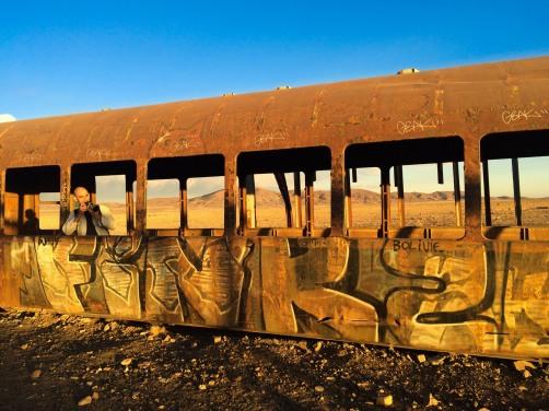 Entrando nas catacumbas ferroviárias.